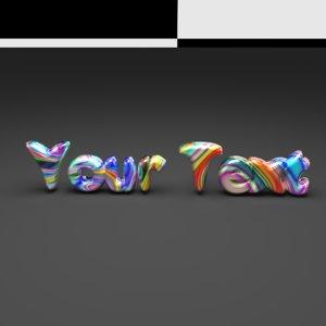 custom text candy 3D model