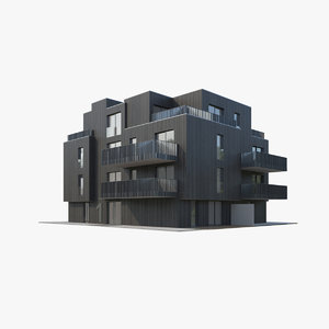 apartment house 3D model