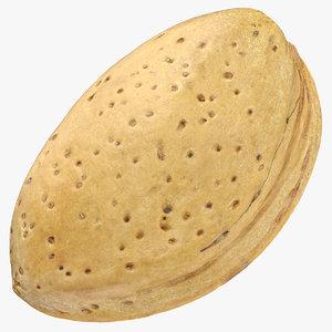 3D almond shell 02
