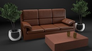 3D realistic leather model