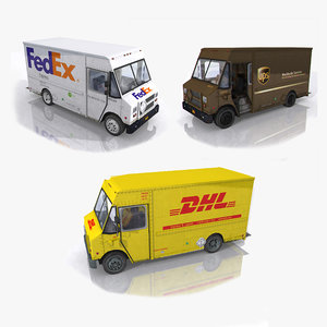 3D photorealistic post trucks