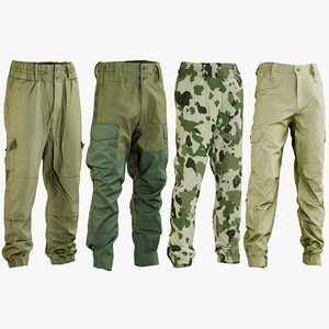 realistic hunting pants 1 3D model