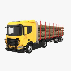 generic truck trailer 3D model
