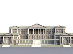 classic building architectural 3D model