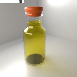 medicine bottle 2 clear model