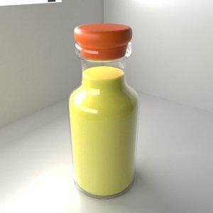 3D model medicine bottle 2 liquid