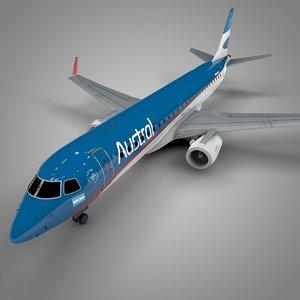 austral embraer190 l597 3D