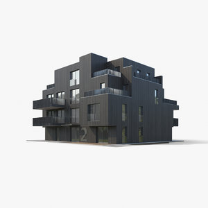 3D apartment house
