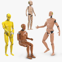 rigged crash test dummies 3D model
