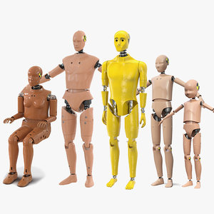 crash test dummies 5 3D model