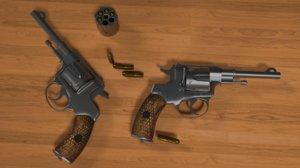 nagan revolver m1835 - 3D model