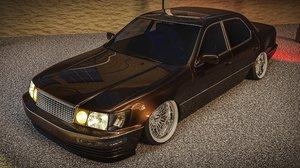 lexus ls400 car 3D