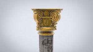 column architecture capital 3D model