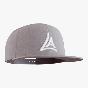 3D snapback cap model