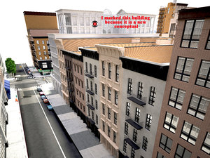 3D new york blocks model