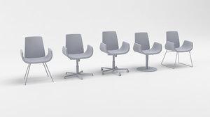 3D nero deberenn chairs