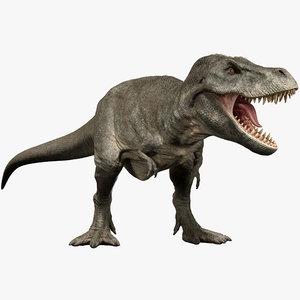 3D tyrannosaurus rig animation rex