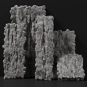 3D rock slab model