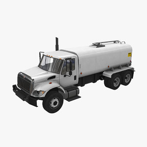 3D navistar international 7400 tanker truck