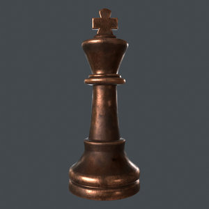 3D chess king