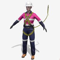 Worker Mining Safety Female - Bella - Harness
