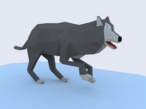 3D animation wolf