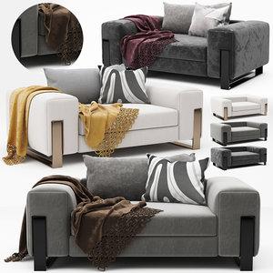 modern armchair pillows model