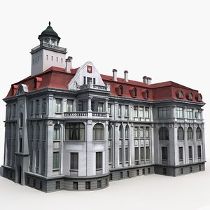 european building 3D