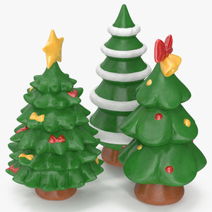 3D christmas tree figurines 2