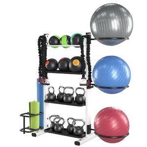 fitness rack 3D model