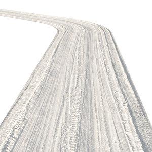 3D winter road track