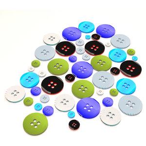 3D button fashion