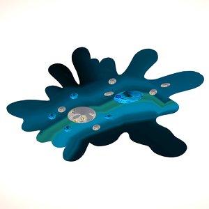 3D amiba bacteria