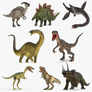 3D rigged dinosaurs 3