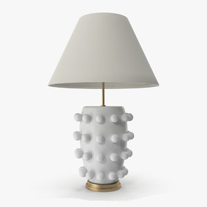 linden table lamp white 3D model