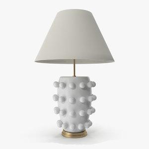 linden table lamp white 3D model