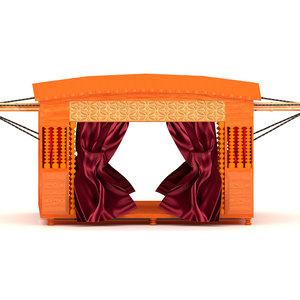 palanquin carriage 3D model