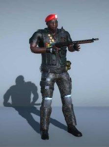 swat commander shotgun - 3D model