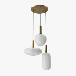 3D post modern pendant lights model