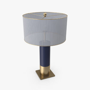 3D table lamp blue base model