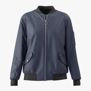 3D hix mountain bomber jacket model
