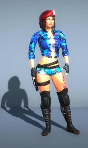 swat girl - 3D