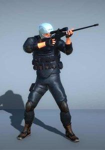 3D model swat sniper -