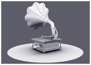 3D gramaphone model