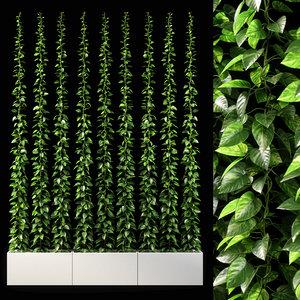 3D vertical garden 09 model