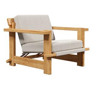 3D chair scandinavian lounge