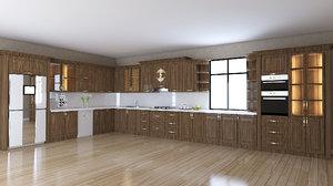 3D kitchen furniture design sadiq model