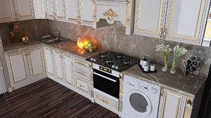 3D kitchen furniture design ecemi model