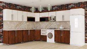kitchen furniture design interior 3D model