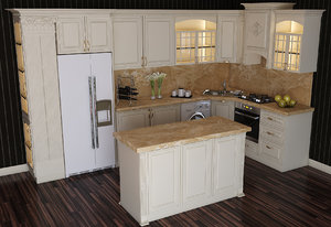 3D model kitchen furniture design ayligece
